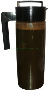vegan chocolate spirulina v2.0 in 2 quart pitcher