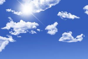 blue sky sun shining through the clouds vitamin d nutrients from plants