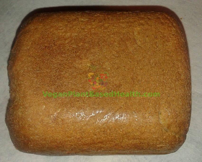 vegan whole wheat bread v3.0 top uncut