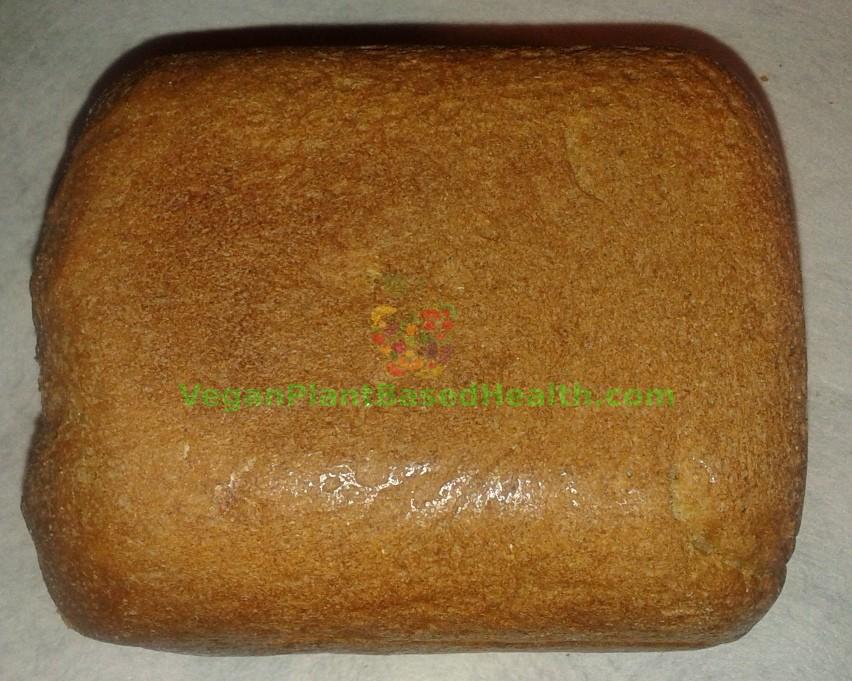 vegan whole wheat bread v3.0 top uncut