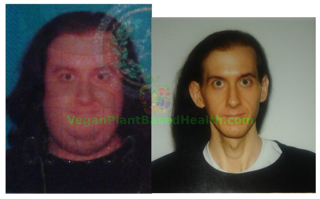 weight loss picture before and after veganplantbasedhealth.com watermark