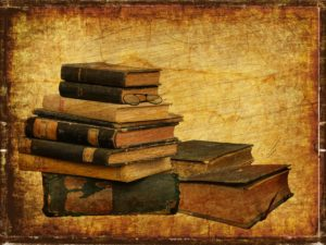 stack of books vintage background resources