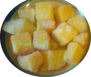 mango chunks frozen store bought unripe what i eat in a day