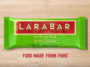 larabar vegan health food bar ad apple pie transition to a vegan diet