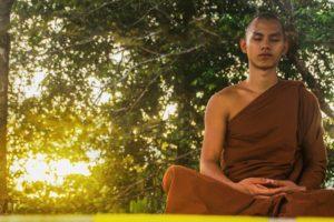 buddhist monk meditating fasting Buddhism dietary myths