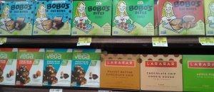vegan products Bobo's, Vega, Larabar